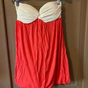Strapless mini cover up